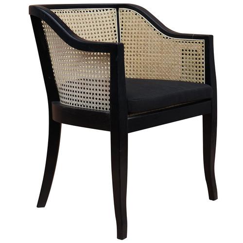 Black Safaa Rattan Armchair
