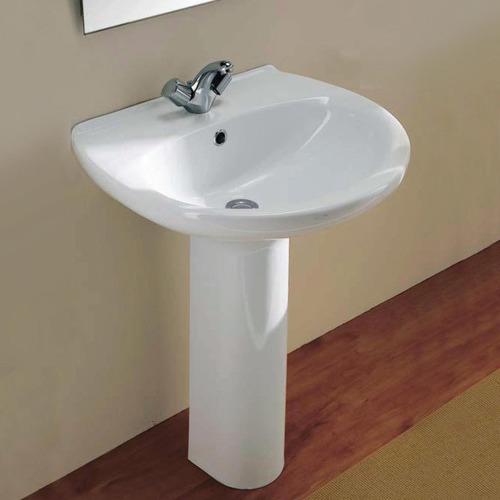 60 x 50cm Aveiro Ceramic Basin & Pedestal Number of Tap Holes: 1 tap hole
