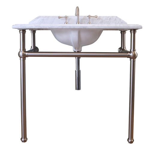 90 x 55cm Mayer Carrara Marble Top Washstand Number of Tap Holes: 3 tap holes
