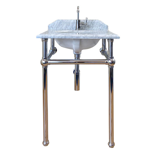 60 x 55cm Mayer Carrara Marble Top Washstand Number of Tap Holes: 1 tap hole