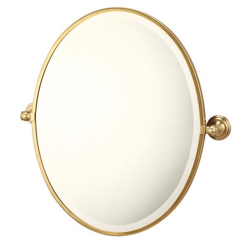 Mayer Wall Mounted Oval Pivot Mirror Colour: Brass