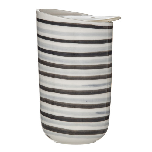 Roma Stripe Double Wall 325ml Stoneware Travel Cup