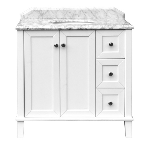 90 x 55cm Coventry Marble Top Vanity Unit Number of Tap Holes: 1 tap hole