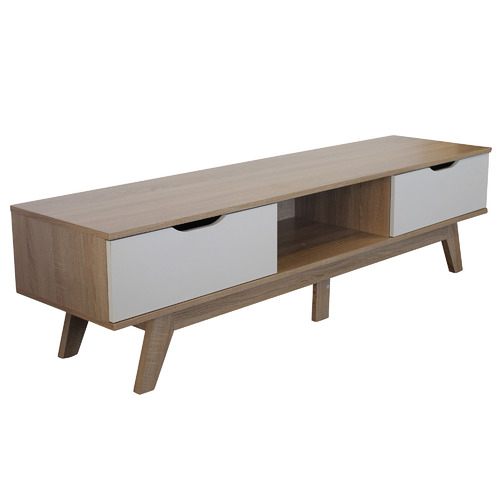 Natural & White Carly Entertainment Unit