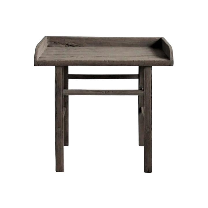 Canglu 120 Year Antique Elm Timber Oriental Fence Table, No.1389, 98cm