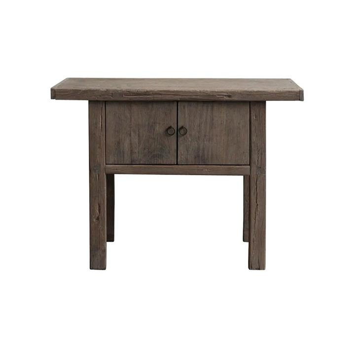 Xuange 120 Year Antique Elm Timber Oriental Side Cabinet, No.1399, 108cm