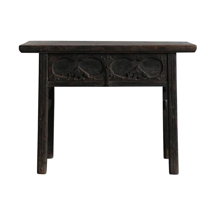 Yujing 130 Year Antique Elm Timber Oriental Console Table, No.1412, 111cm