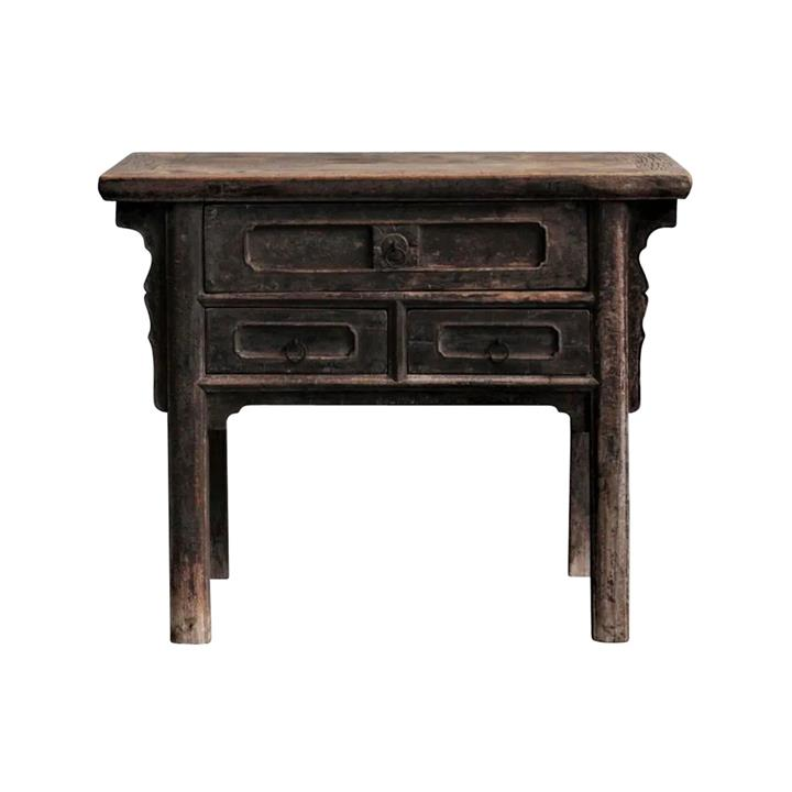 Yuzhi 130 Year Antique Elm Timber Oriental Console Table, No.1413, 100cm