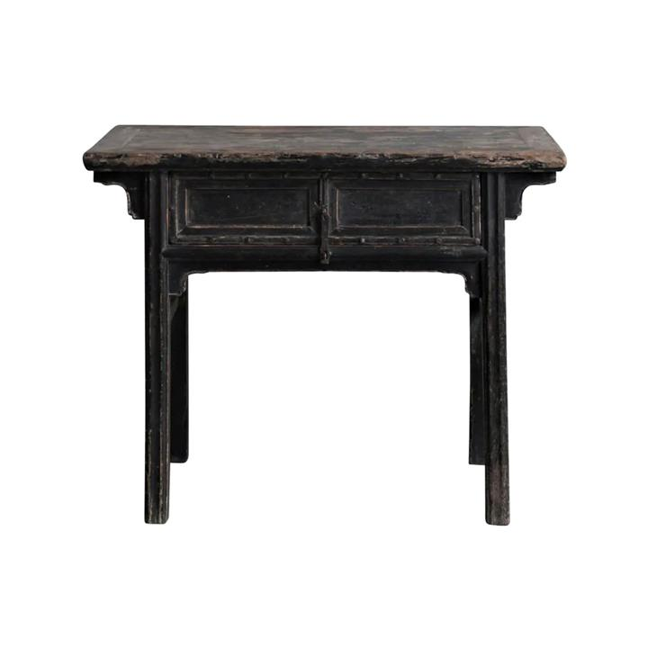 Qingqiu 130 Year Antique Elm Timber Oriental Console Table, No.1414, 104cm