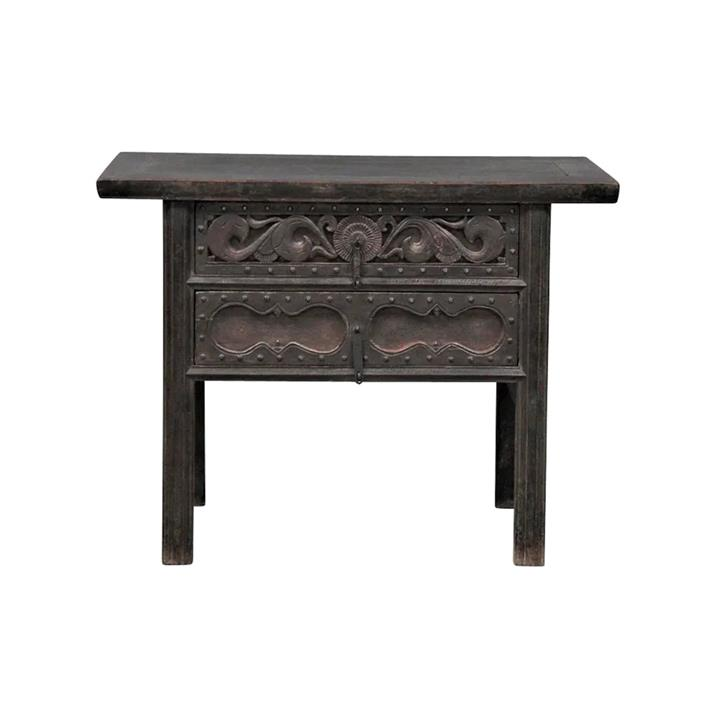 Mangzhong 130 Year Antique Elm Timber Oriental Console Table, No.1417, 111cm