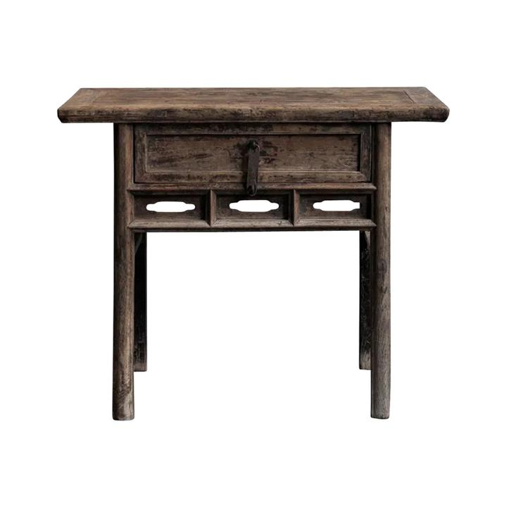 Dayi 130 Year Antique Elm Timber Oriental Console Table, No.1419, 101cm