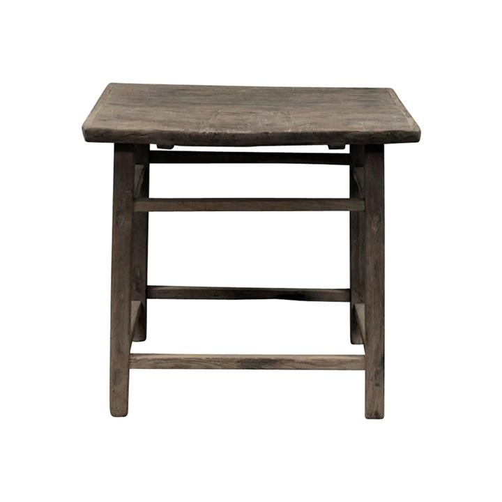 Changlu 140 Year Antique Elm Timber Oriental Dining Table, No.1422, 94cm