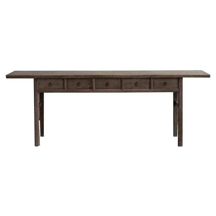 Yuntai 130 Year Antique Elm Timber Oriental Console Table, No.1437, 240cm