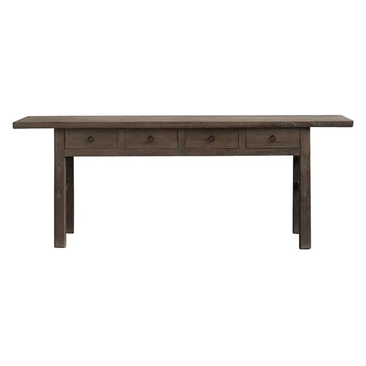 Yuntai 130 Year Antique Elm Timber Oriental Console Table, No.1438, 216cm