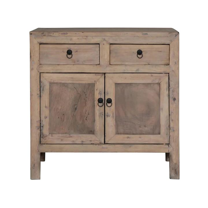 Noah 120 Year Antique Cypress Timber Oriental Side Cabinet, No.1360