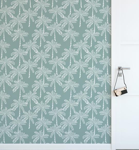 Little Khaki Palm Wallpaper