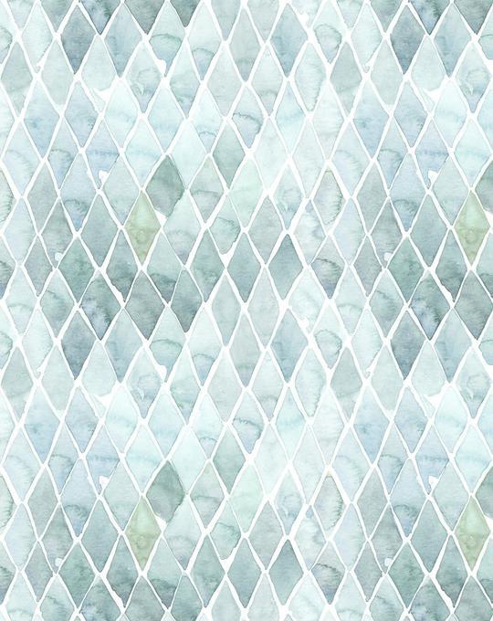 Seafoam Small Tile Wallpaper