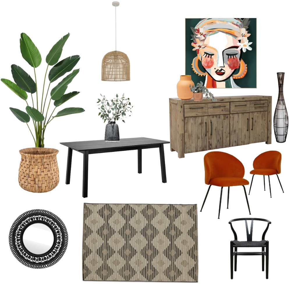 Dining Room Refresh Interior Design Mood Board by roanneloves on Style Sourcebook