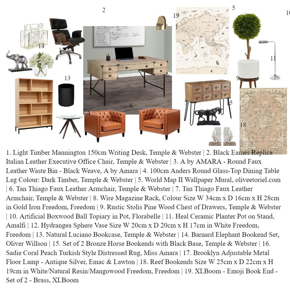 Assignment 9 Study room Interior Design Mood Board by Maryamdadjouabadi on Style Sourcebook