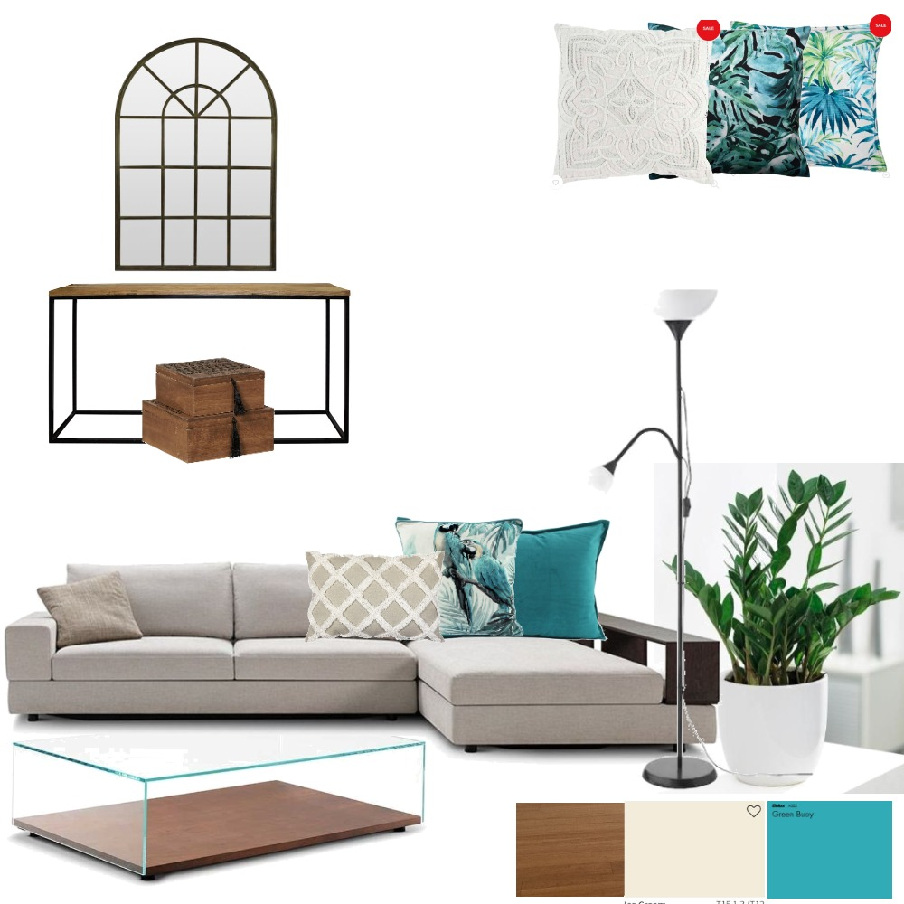 Media room with hall way Interior Design Mood Board by Kate Targato on Style Sourcebook