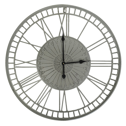 Grey Bradley Open Faced Wall Clock