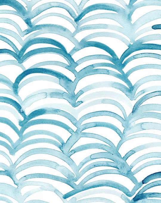 Aqua Arch Wallpaper