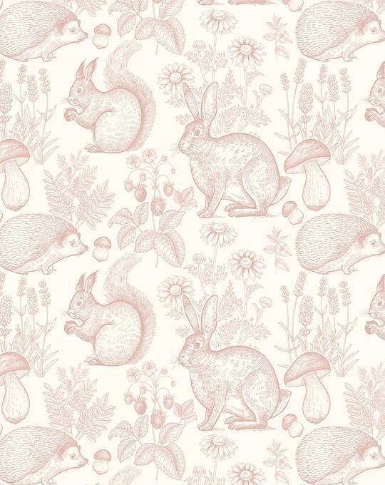 Woodland Folk Wallpaper