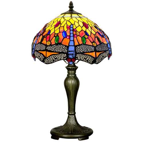 Dragonfly Tiffany Stained Glass Table Lamp