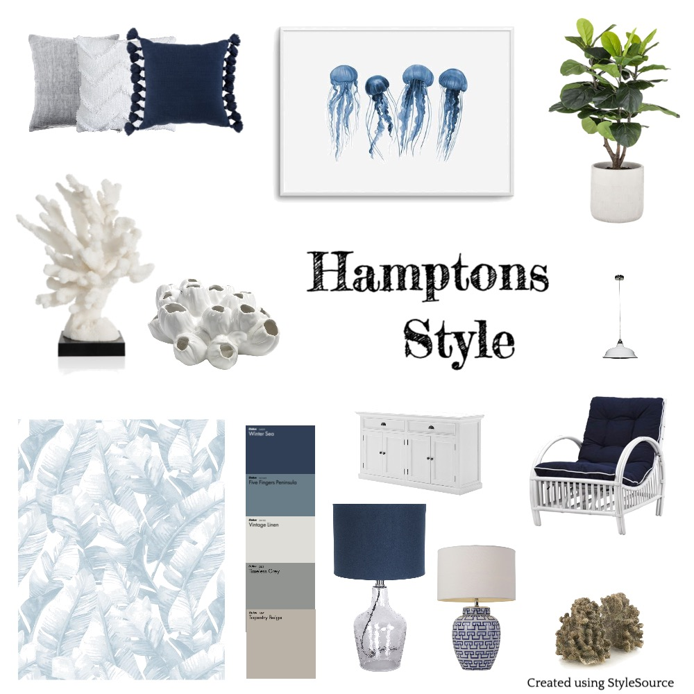 Hamptons Interior Design Mood Board by Ceilidh on Style Sourcebook