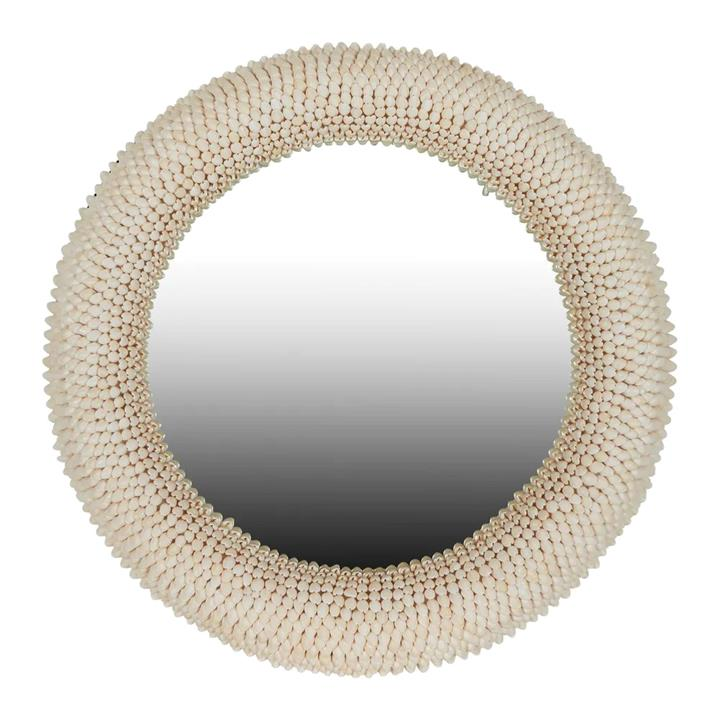 Terrigal Seashell Frame Round Wall Mirror, 76cm