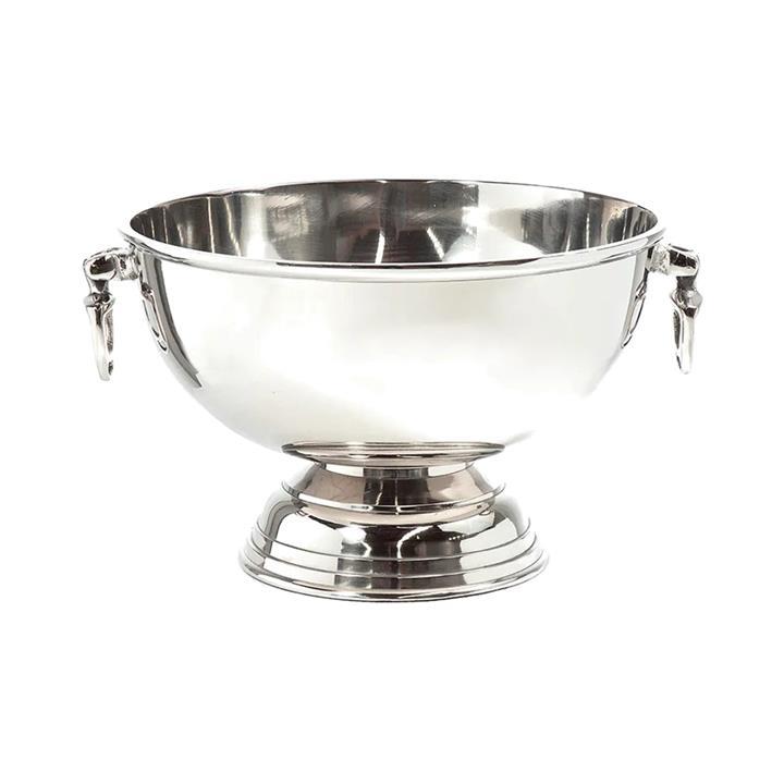 Birchwood Metal Round Ice Bucket, Nickel