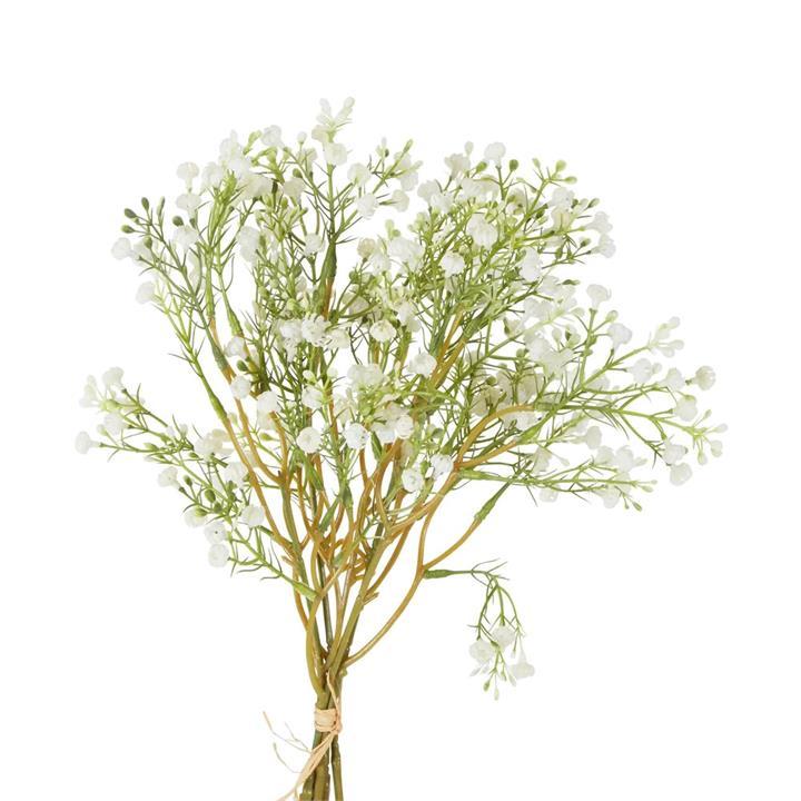 Artificial Gypsophila Bundle, 38cm, White