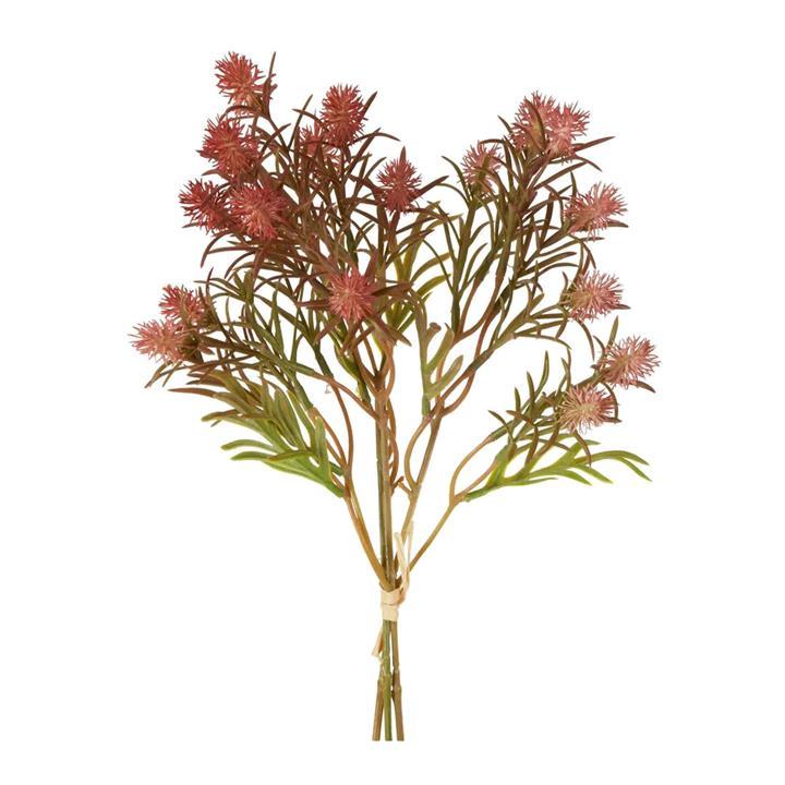 Artificial Wild Berry Stem Bundle, 36cm, Dark Pink