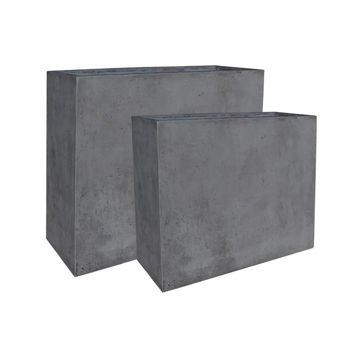 Fort 2 Piece Cement Box Planter Set