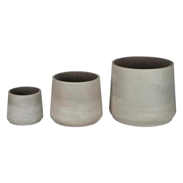 Chi 3 Piece Cement Planter Set