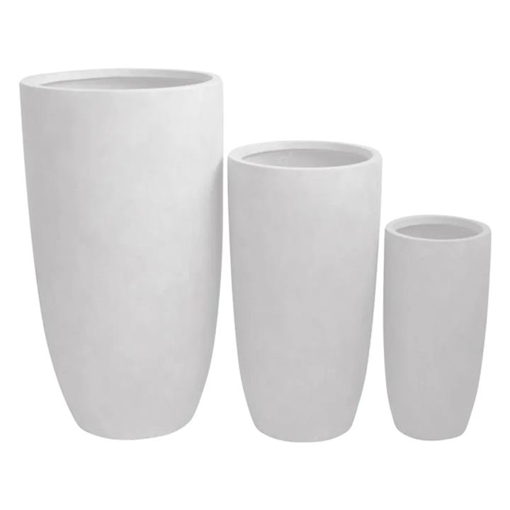 Sashe 3 Piece Planter Set, White