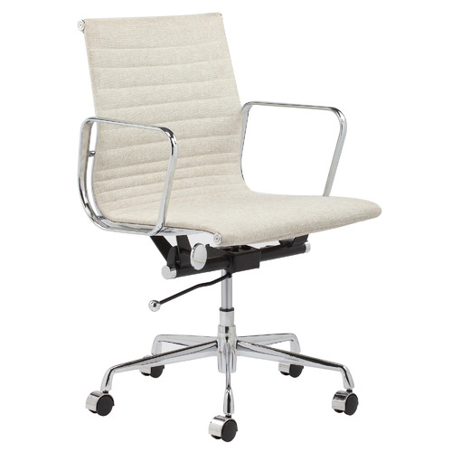 Natural Eames Replica Management Fabric Office Chair Colour: Natural