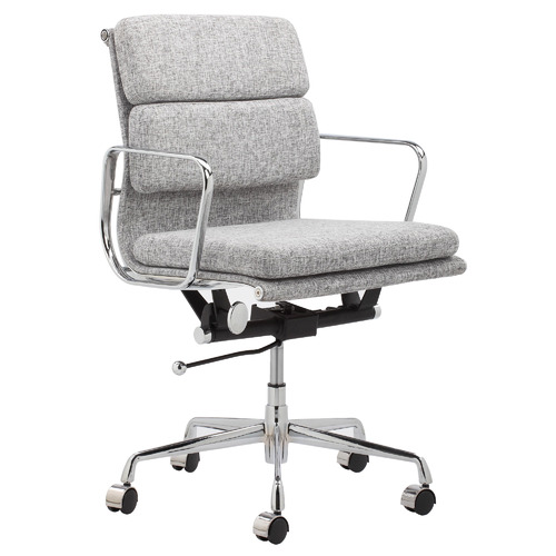 Eames Replica Softpad Fabric Office Chair Colour: Grey