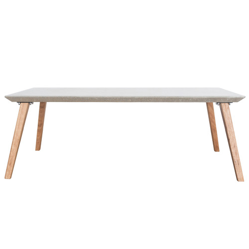 Breindel Blackbutt Wood & Concrete Coffee Table Tabletop Colour: Silver, Leg Material: Blackbutt Wood