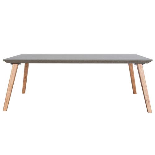 Breindel Blackbutt Wood & Concrete Coffee Table Tabletop Colour: Charcoal, Leg Material: Blackbutt Wood