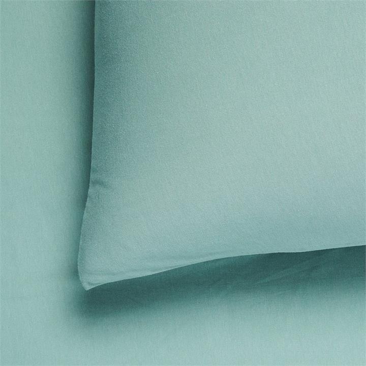 Adairs Kids Cotton Jersey Fitted Sheet Set DB Ivy Green Fitted Set - Ivygreen