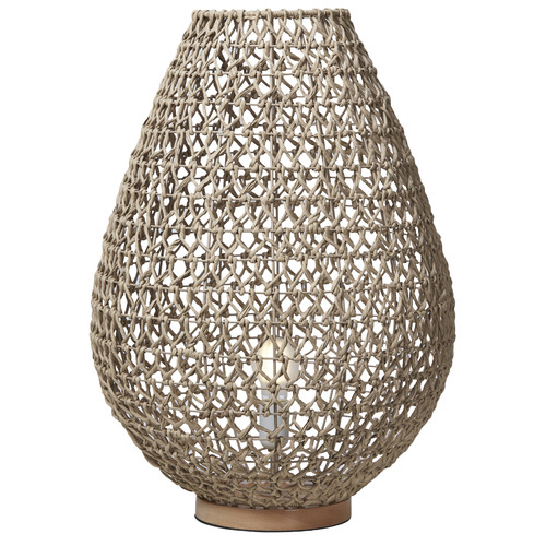 Russell Woven Table Lamp Colour: Natural, Size: 62 x 44.5 x 44.5cm
