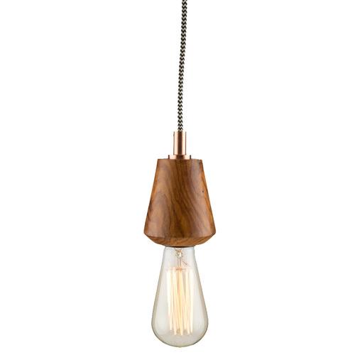 Lumley Wooden Pendant Light Colour: Natural & Copper