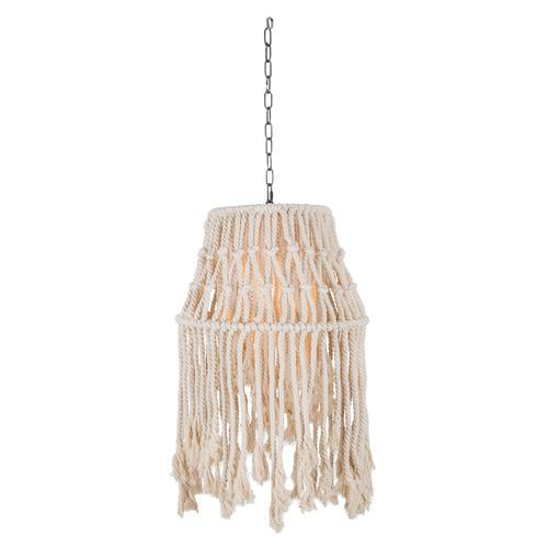 Vernon Cotton & Rope Pendant Light