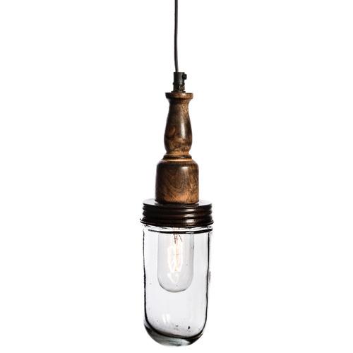 Vintage-Style Corbet 33cm Iron & Glass Pendant Light