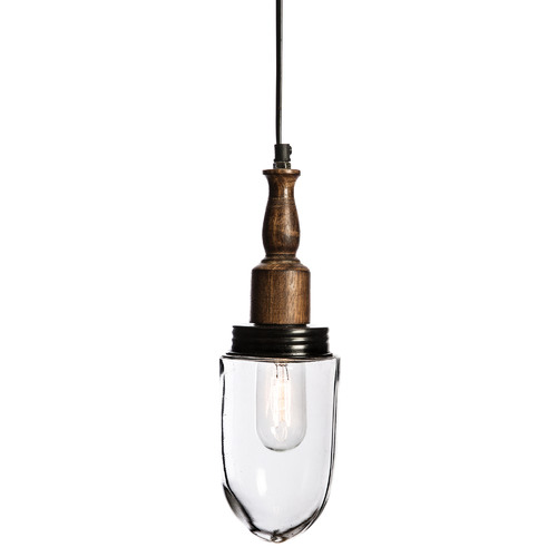 Vintage-Style Corbet 34cm Iron & Glass Pendant Light