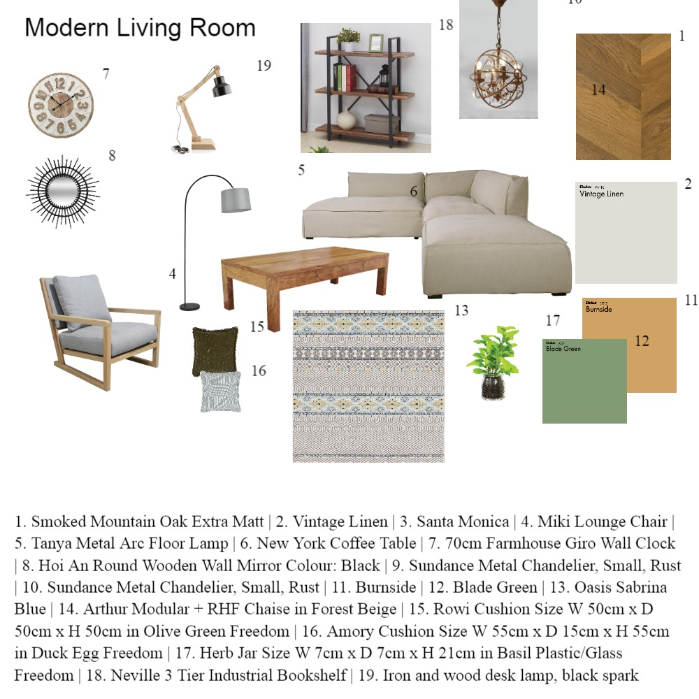 Modern Living Room Interior Design Mood Board by Trish on Style Sourcebook