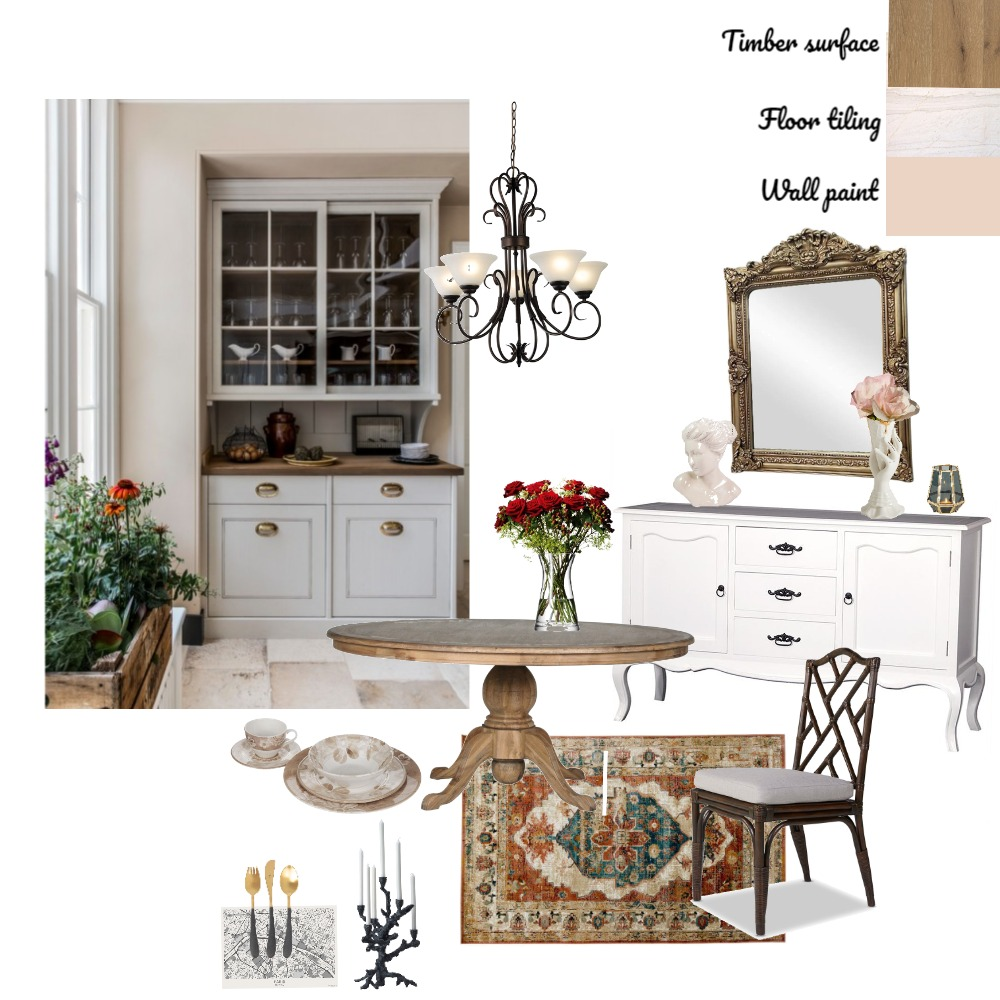 Country French dining Interior Design Mood Board by kaleennguyen on Style Sourcebook