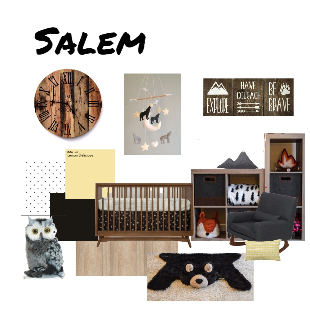 Baby Salem nursery Interior Design Mood Board by Kim Paillé on Style Sourcebook