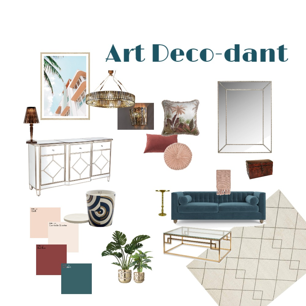 Art Deco-dant Interior Design Mood Board by Bernadette Crome on Style Sourcebook